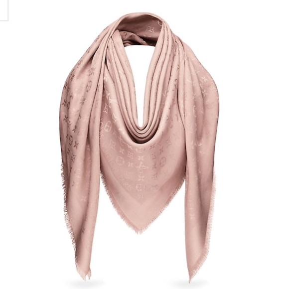 9fe6293fe8aae Louis Vuitton Accessories | Monogram Shawl M74441 Neutral | Poshmark